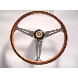 Abarth steering wheel with wood-spoke chrome