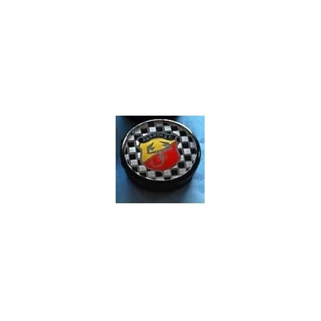 ABARTH TYPE HUB COVER SMALL INT, DIAM. MM.50 YELLOW/RED CHESS