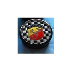 ABARTH TYPE HUB COVER LARGE DIAM. INSIDE MM.55 YELLOW/RED CHESS