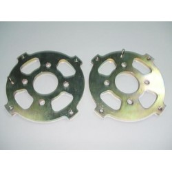 Pair of front brake plates Fiat 500