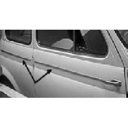FIAT 500D SERIES MOULDINGS ALUMINIUM 5 PIECE