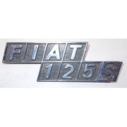 SIGLA SCRITTA FIAT 125s